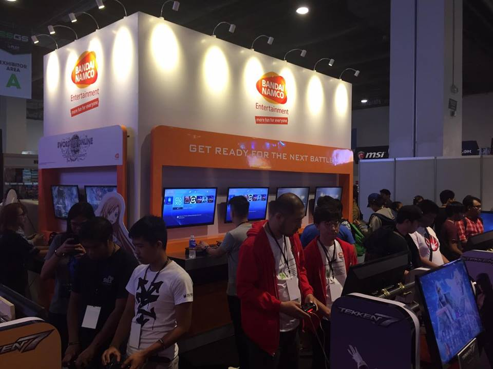 Bandai Namco brought some of their newest titles: Tekken 7, Sword Art Online: Hollow Realization, and Little Nightmares. Photo by Don Kevin Hapal