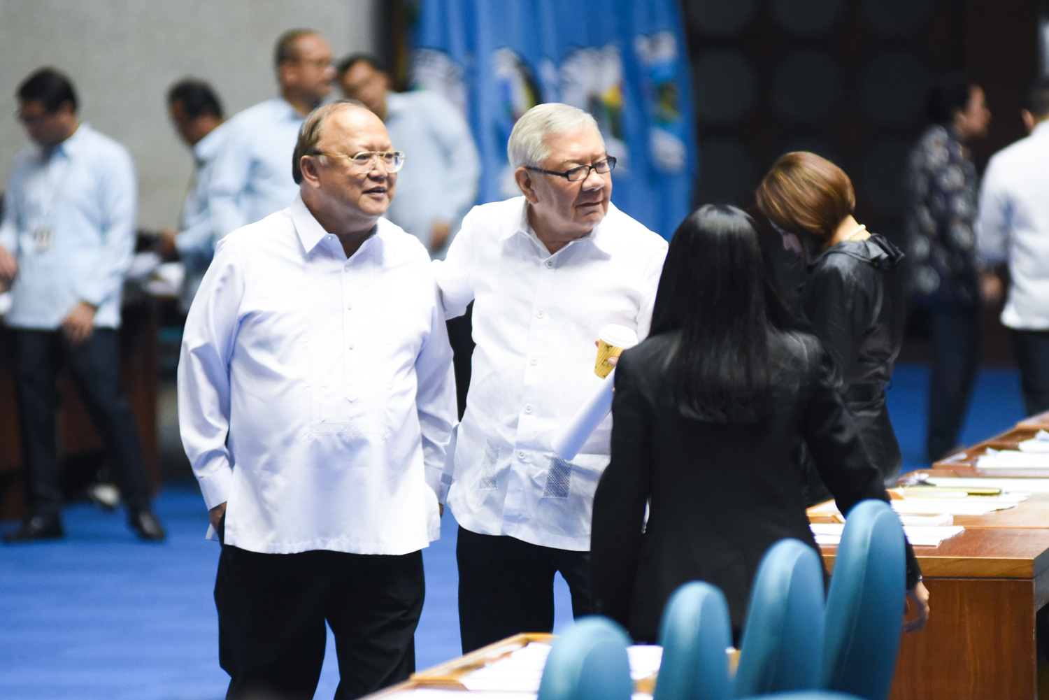 LP LEADER. Outgoing House Speaker Feliciano Belmonte said he might lead the members of the LP who will join the majority coalition if their members won't be asked to jump ship to PDP-Laban. Photo by Martin San Diego/Rappler