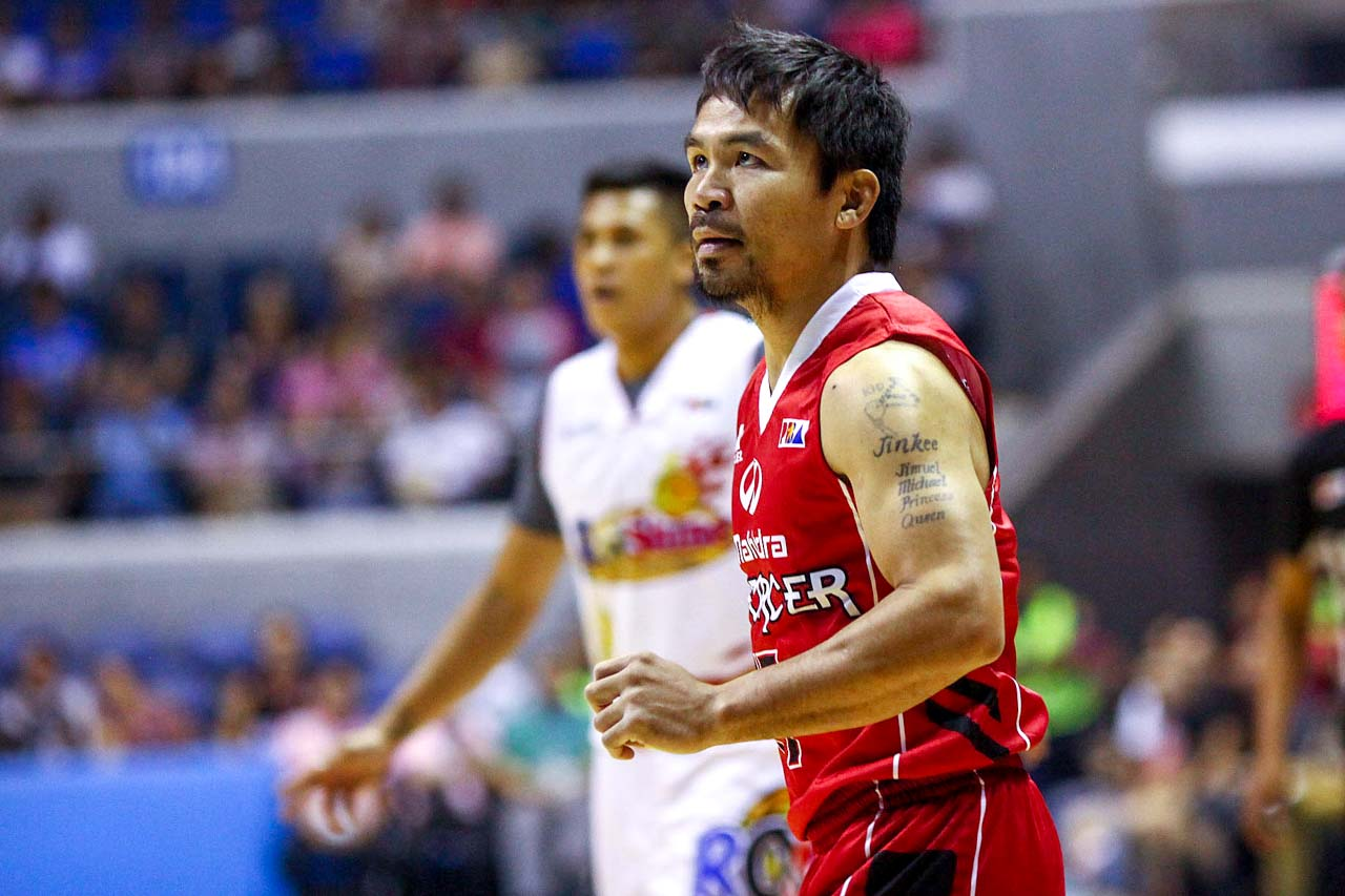 GETTING BUCKETS. Manny Pacquiao adds another accomplishment to his resume. Photo by Josh Albelda/Rappler