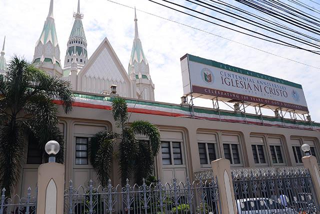 Fascade of Iglesia ni Cristo church in Quezon City. Photo by Jansen Romero/Rappler