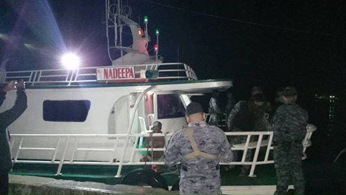 M/L NADEEPA. The vessel is one of two apprehended on August 24, 2018. Photo from Philippine Coast Guard's Facebook page