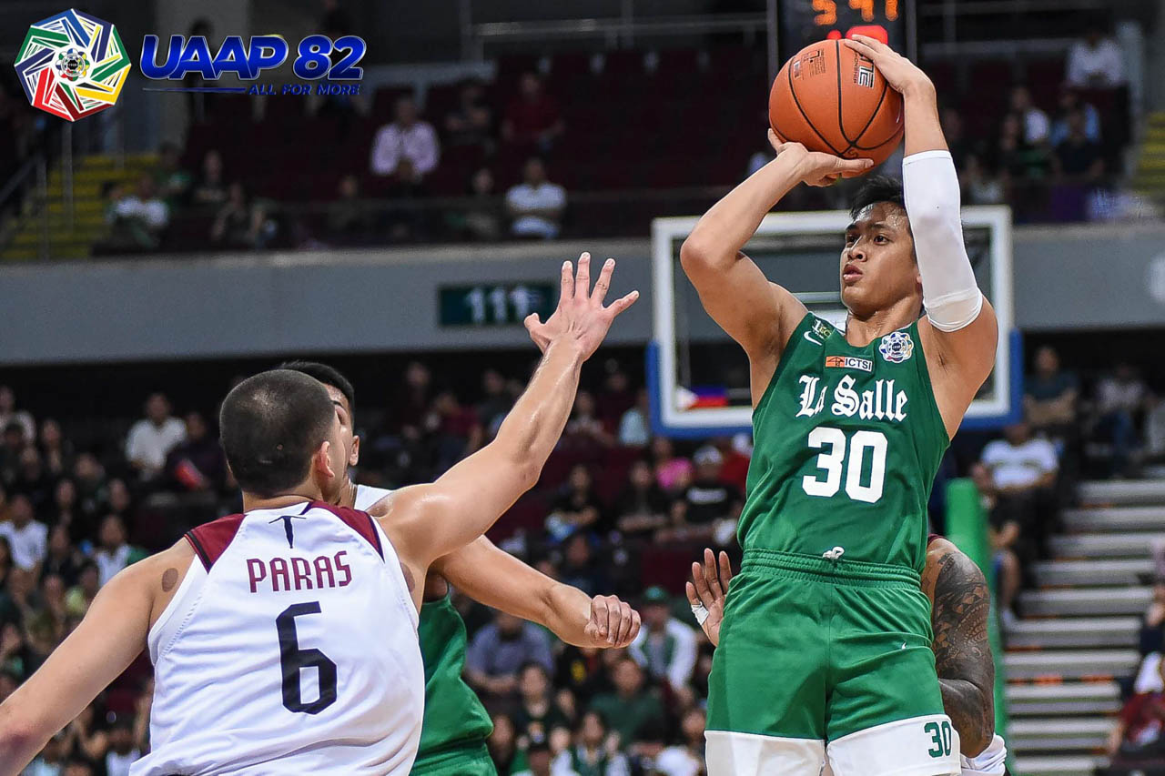 HEARTBREAKER. Andrei Caracut fires 16 points to lead La Salle before UP winds up spoiling their bid for back-to-back wins. Photo release