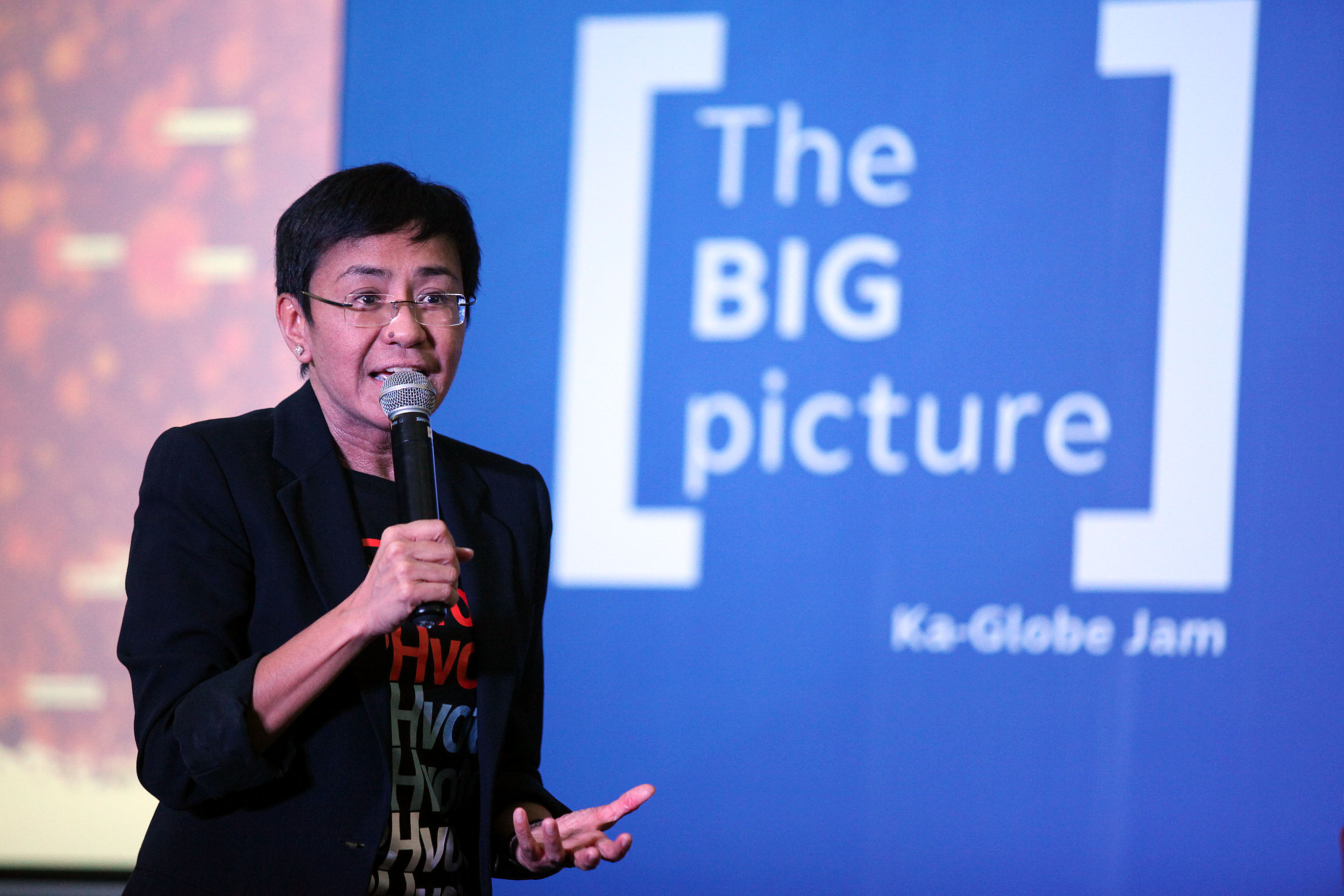 ACT NOW. 'If we can collectively harness it, we can change behavior. If we can collectively act, we can change the world,' Ressa says. Photo by Josh Albelda/Rappler