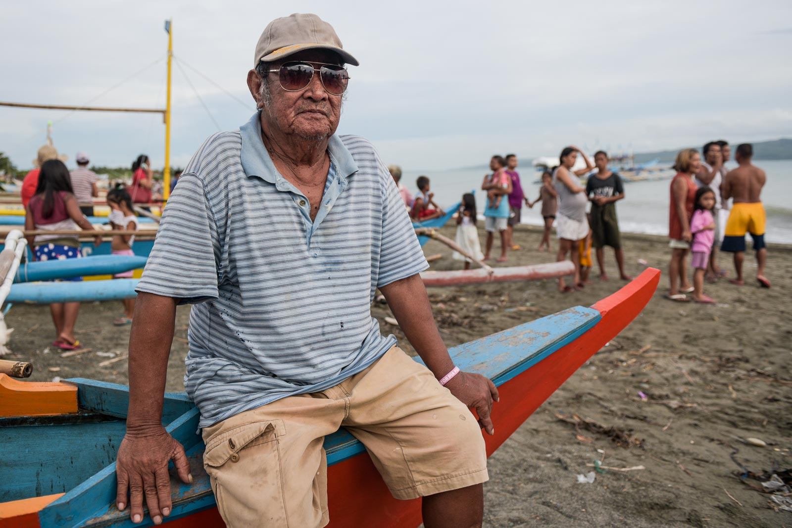 WHAT'S NEXT? Renato Toriana, 77, says illegal fishing is partly to blame for more Filipinos needing to go to Recto Bank (Reed Bank) to fish. Photo by LeAnne Jazul/Rappler