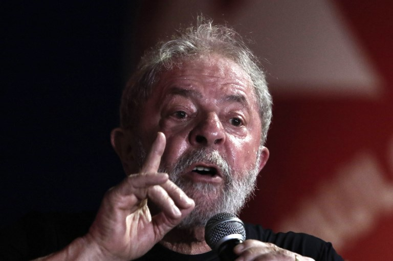 JAIL TIME? In this file photo, former Brazilian president Luiz Inacio Lula da Silva speaks during a rally in his support by trade unionists and members of social movements in Sao Paulo, Brazil on January 24, 2018. File photo by Miguel Schincariol/AFP