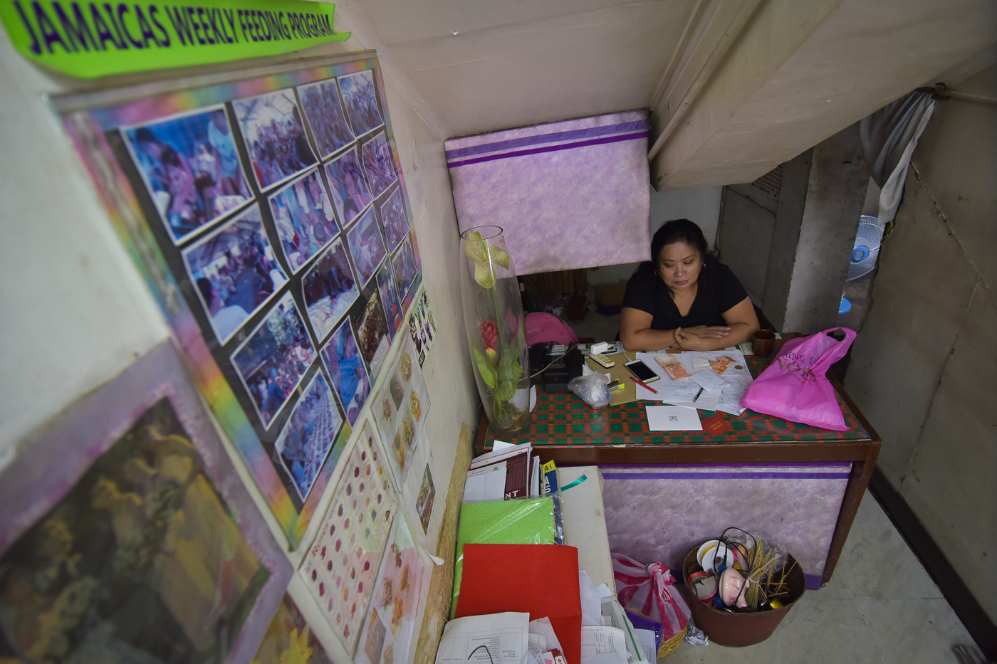 COLLATERAL DAMAGE. A tenant for 33 years, Josie Bigayan-Paad says the eviction will greatly affect her weekly feeding program and job security of her employees. Photo by LeAnne Jazul/Rappler