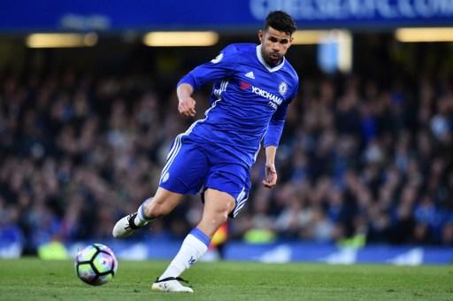 Diego Costa berhasil mencetak 20 gol sepanjang musim Liga Primer musim 2016/2017. Foto oleh Glyn Kirk/AFP