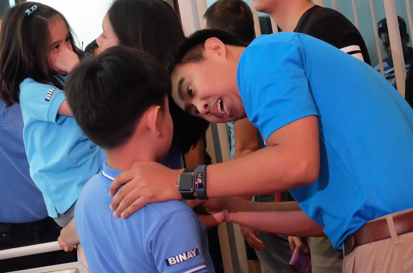 DOTING FATHER. Junjun shares a moment with his only son, Jejomar Binay III. Photo by Alecs Ongcal/Rappler