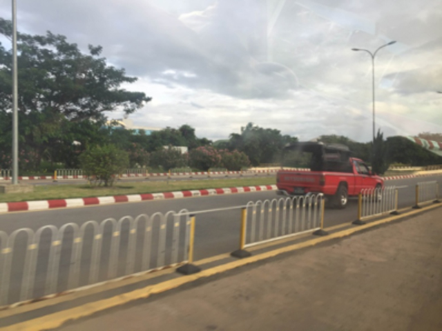 A road in Napidyaw, Myanmar.