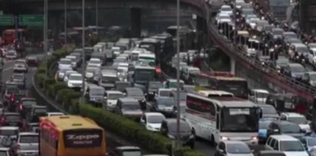 EDSA during rush hour.