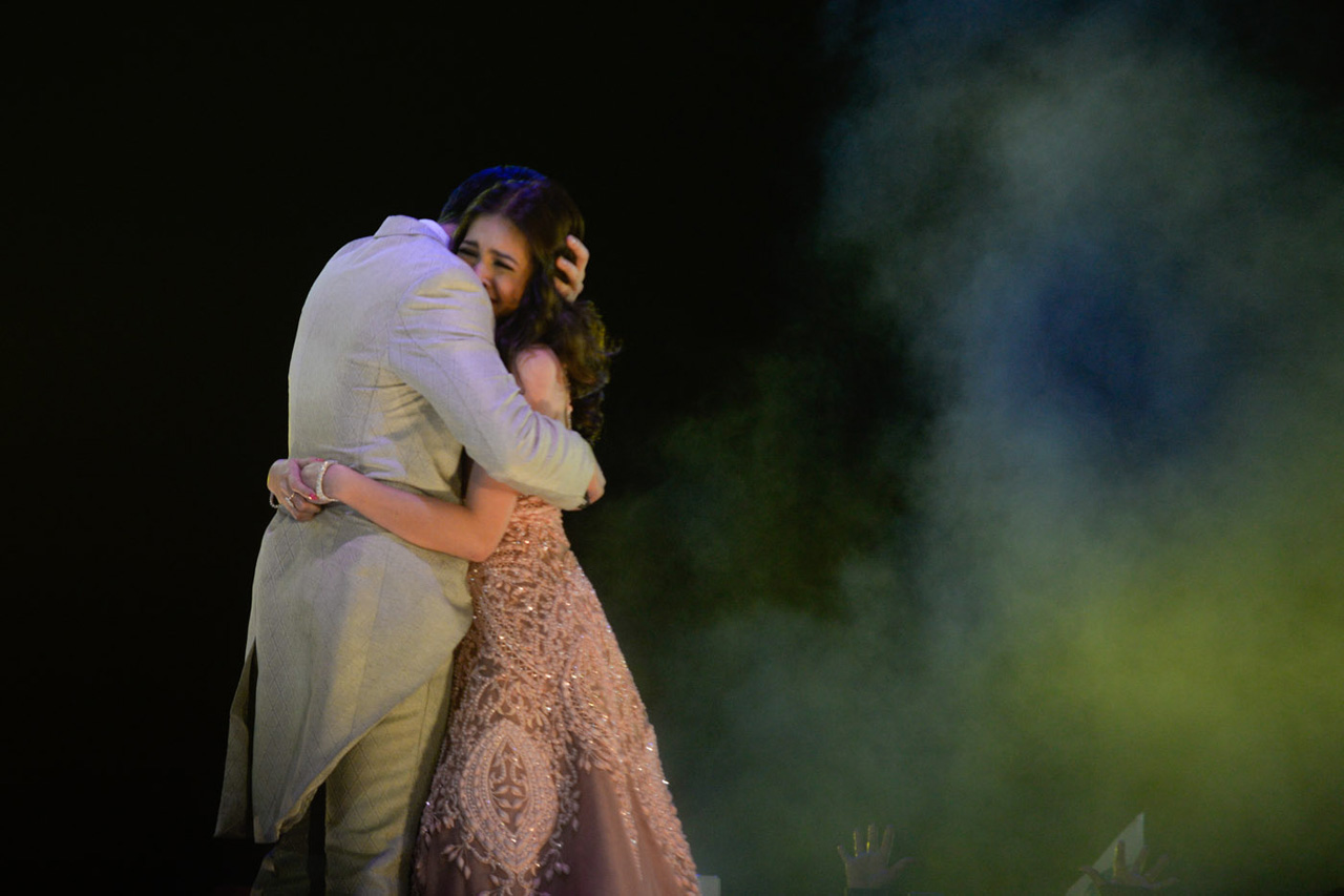 GOD GAVE ME YOU. The couple shares an embrace after telling each other how they felt. Photo by Alecs Ongcal/Rappler.com