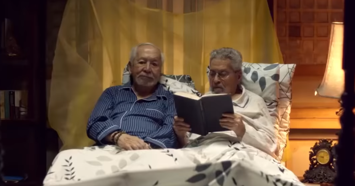MORE THAN FRIENDS. Ramon (Eddie Garcia) spends time with his good friend Fredo (Tony Mabesa), who is ill.