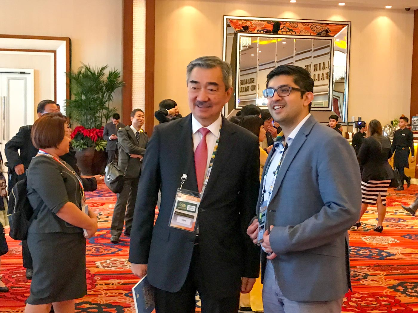 SPOTTED. Hans Sy of the SM Group is one of the gold ticket holders at the ASEAN Business and Investment Summit. Photo by Chrisee Dela Paz/Rappler