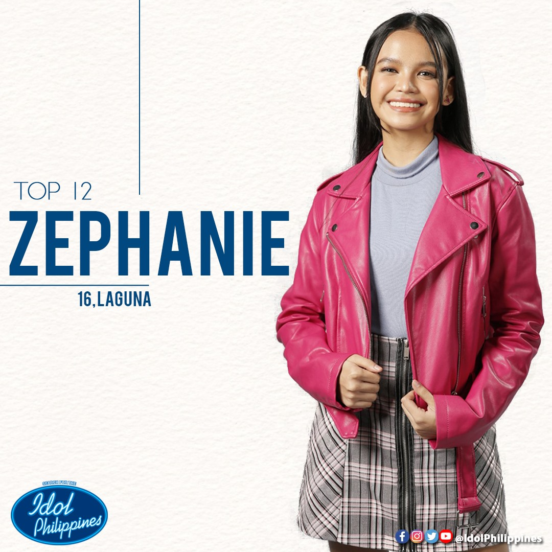 TOP 12. Zephanie as one of the Top 12 hopefuls. Photo from ABS-CBN