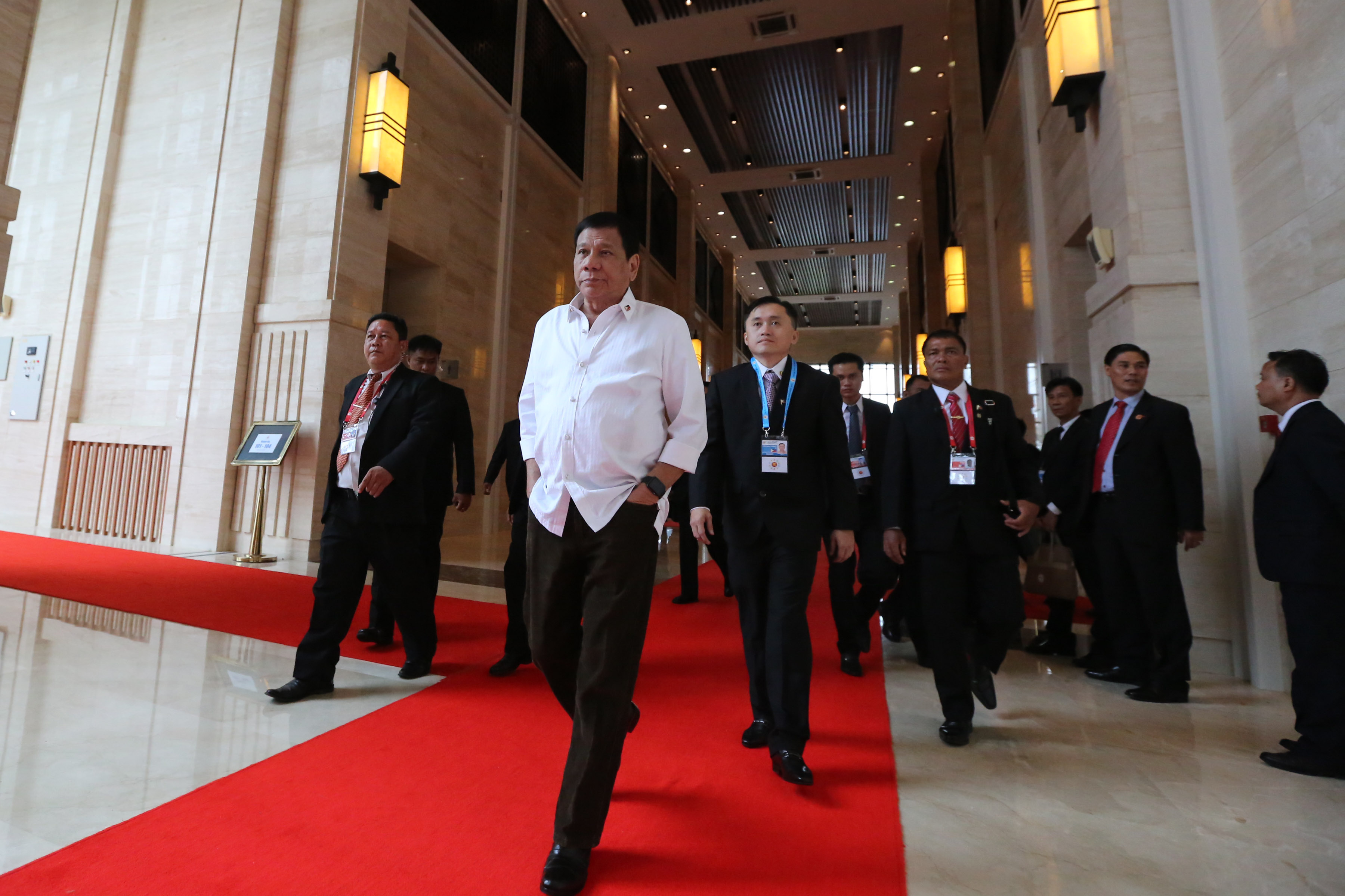 THIS YEAR'S HOST. President Rodrigo Duterte attends the 28th and 29th ASEAN Summit in Laos in September 2016. Presidential photo