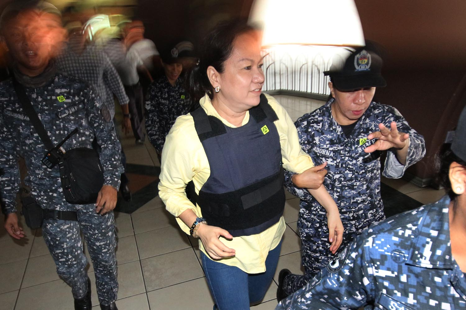 PORK SCAM. Alleged pork barrel scam mastermind Janet Lim-Napoles attends a hearing at the Sandiganbayan in Quezon City on Thursday, June 15, 2017. Photo by Darren Langit/Rappler