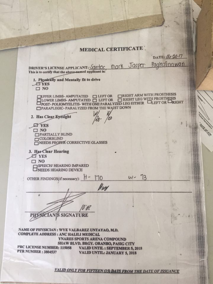 MEDICAL CERTIFICATE. Would you pay P350 for this? I won't.