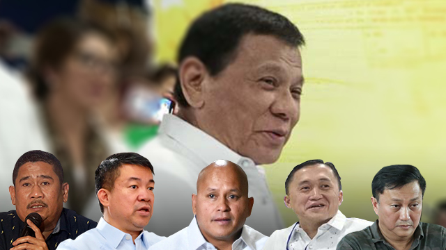 PDP-LABAN SLATE. These 5 make up the small slate of the ruling PDP-Laban party