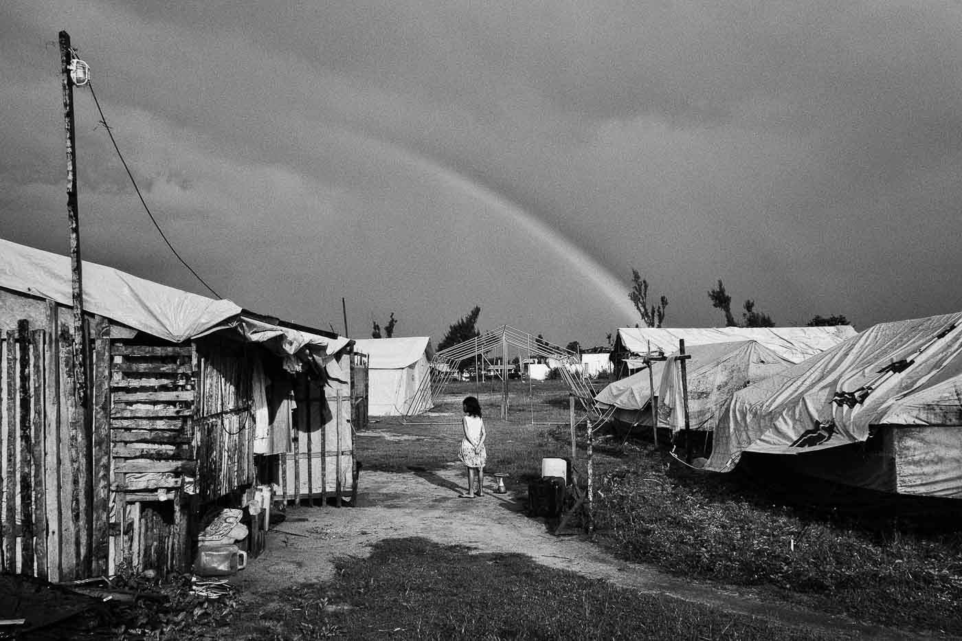 AFTERMATH. One of the underlying threats to those who are displaced by severe weather conditions is violence against women and children living in shelters. All photos by Veejay Villafranca