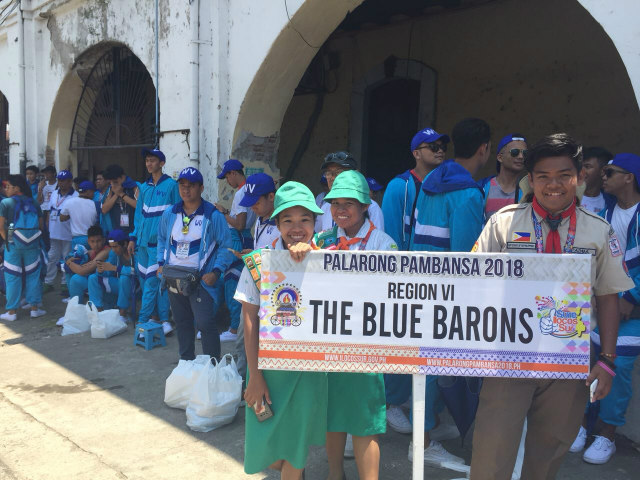 STUDENT ATHLETES. Up to 15,000 student athletes, such as the Blue Barons of Region VI (in photo), will compete in Palarong Pambansa 2018. Photo by Mara Cepeda/Rappler