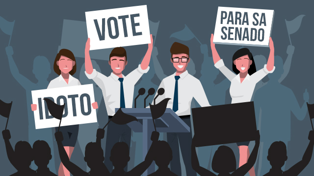 FRENZY. The campaign period for the 2019 polls begins on February 12. Graphic by Alyssa Arizabal/Rappler