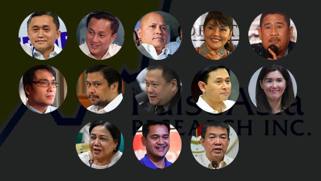 ADMINISTRATION ALLIES. Hugpong ng Pagbabago senatorial candidates dominate pre-election surveys so far