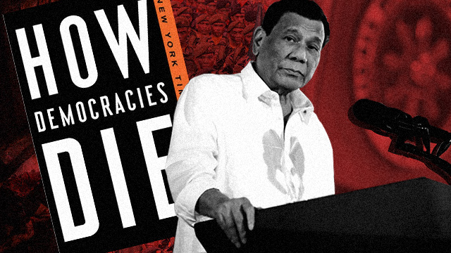PROTECTING DEMOCRACY. Let's check if President Rodrigo Duterte shows signs of a budding dictator. Duterte image from Malacau00f1ang photo