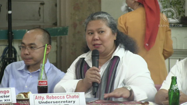 PROUD FISHERMAN'S DAUGHTER. Labor Undersecretary Rebecca Chato proudly says she was raised by a fisherman herself. Photo by Buena Bernal/Rappler