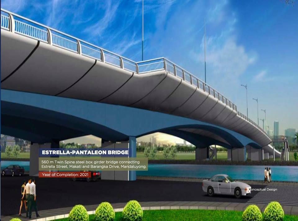 NEW BRIDGE. The Estrella-Pantaleon Bridge will be replaced by a 4-lane one. Image from Public Works Secretary Mark Villar's Facebook page