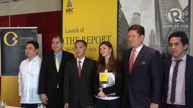 HIGHLIGHTING GROWTH. The Philippines is in the international spotlight and more investors are flocking to it, says Oxford Business Group managing editor, Paulius Kuncinas (2nd from right)