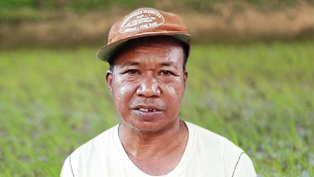 A FARMER'S EYES. Alberto Ricoperto is one of many Filipino farmers who cannot afford basic medical care. Photo c/o author