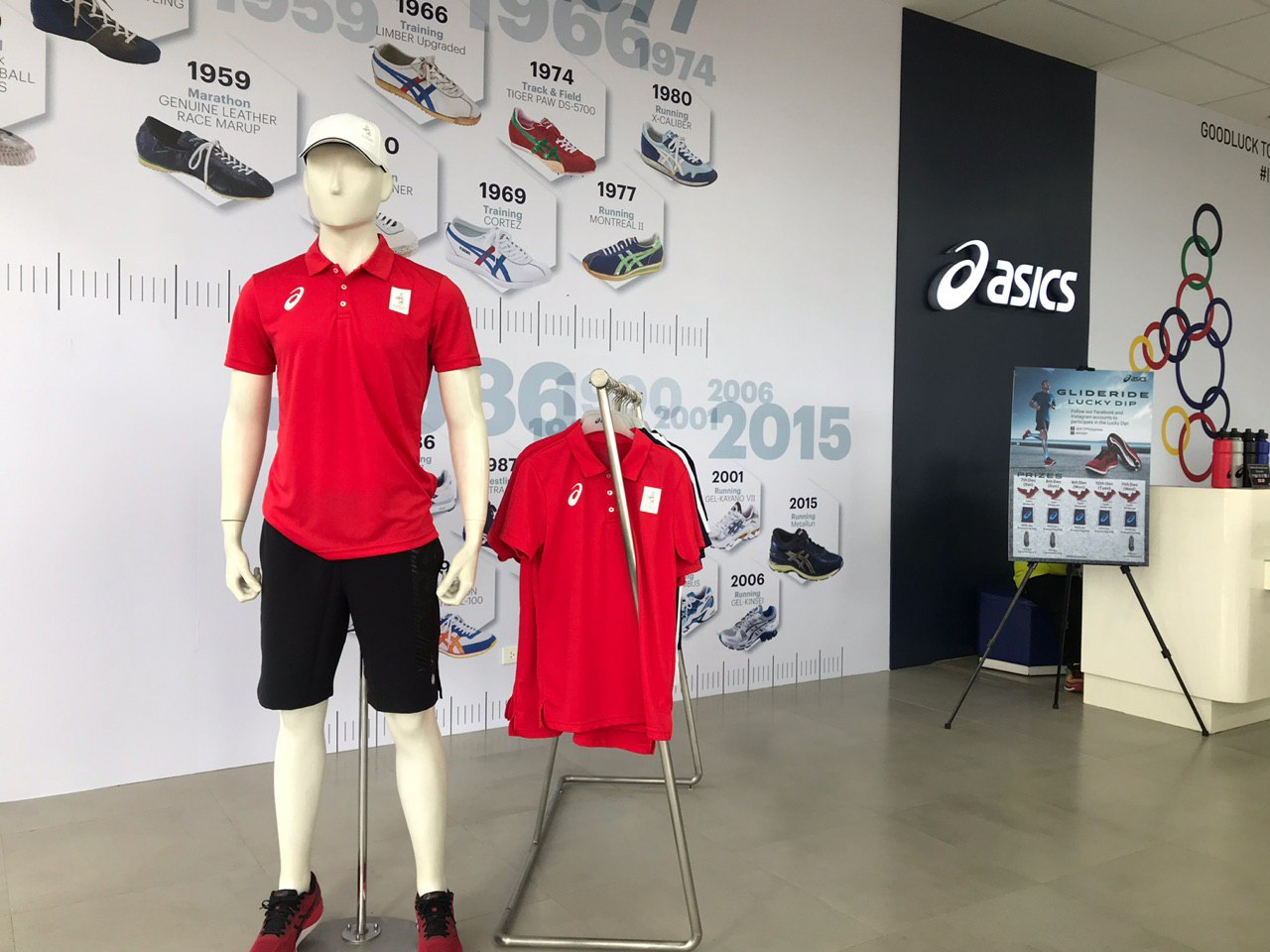 TOP OF THE LINE. The Asics polo shirt is the most expensive at P2,090. Photo by Beatrice Go/Rappler