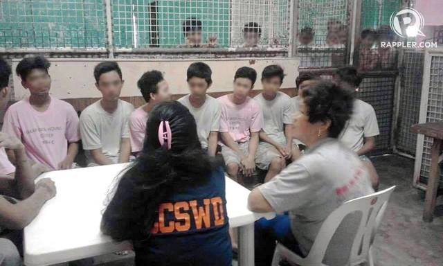 INTERVENTION. Children in conflict with the law inside Yakap-Bata Holding Center in Caloocan in November 2016. Rappler sourced photo