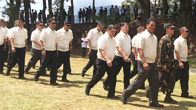 PMA 1984: Secretary Mar Roxas treads PMA grounds (third row, rightmost)