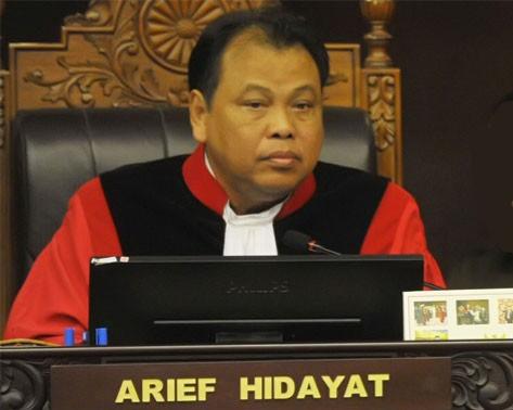 BANTAH. Mahkamah Konstitusi (MK) membantah jika ketua mereka, Arief Hidayat pernah berupaya untuk melakukan lobi terhadap anggota DPR agar terpilih kembali. Foto oleh ANTARA