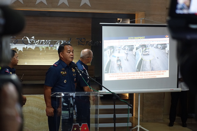 PRESENTATION. Chief Superintendent Amador Corpus shows CCTV clips on the killing of Mayor Ferdinand Bote. Photo by Rambo Talabong/Rappler