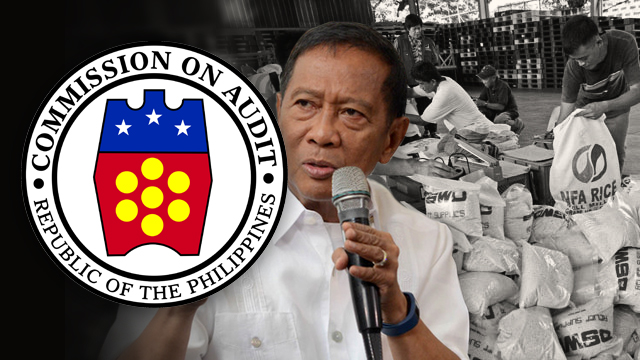 PROCEDURAL LAPSES. The Commission on Audit (COA) finds procedural lapses in the procurement of relief goods done by the Office of the Vice President under Jejomar Binay in 2015.