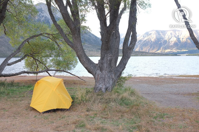 CLOSE TO NATURE. Camping by Lake Pearson yielded a gorgeous sunrise but be ready for the cold