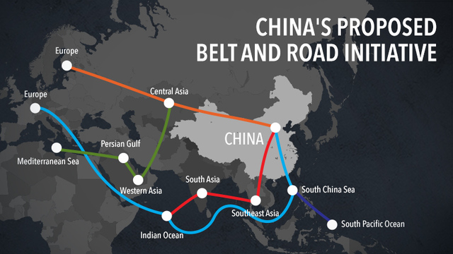 BELT AND ROAD. China's proposed belt and road initiative will connect China to economic circles in Europe, Asia, and Africa. Graphic by Raffy de Guzman, based on China Daily map