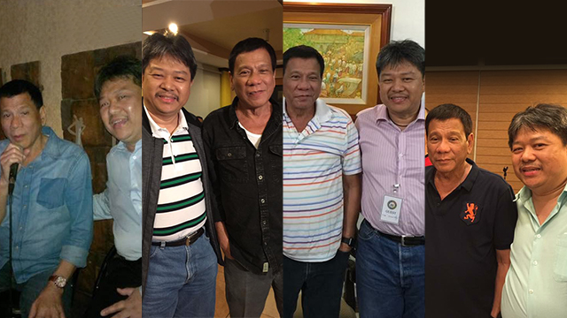 FRIENDS? Janet Napoles' lawyer Stephen David says he was close to President Rodrigo Duterte 'long, long time ago.' Photos from Stephen David's Facebook page