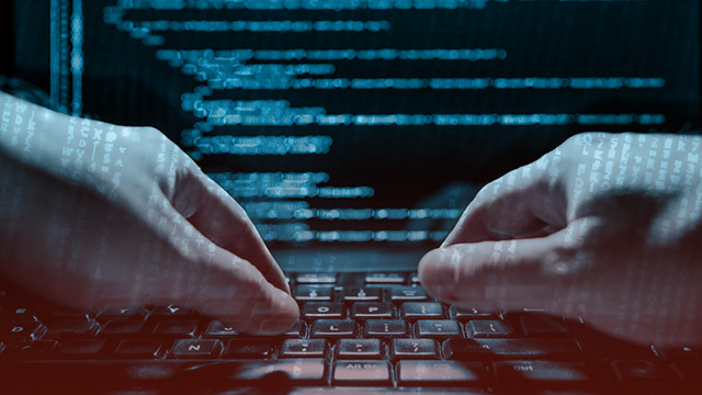 HACKED. When a person's device is infected with malicious software, data and information on the devices can be accessed.