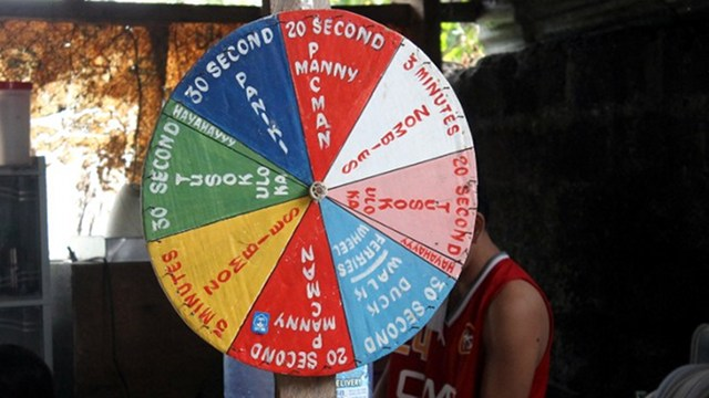 'WHEEL OF TORTURE.' A wheel used allegedly by Binan police to torture inmates. Photo courtesy: CHR/AFP