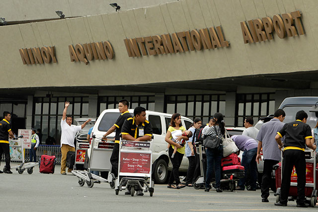 NAIA. Only passengers departing from the Philippines through the Ninoy Aquino International Airport will be affected by the integration of terminal fees into airfares. File photo by EPA