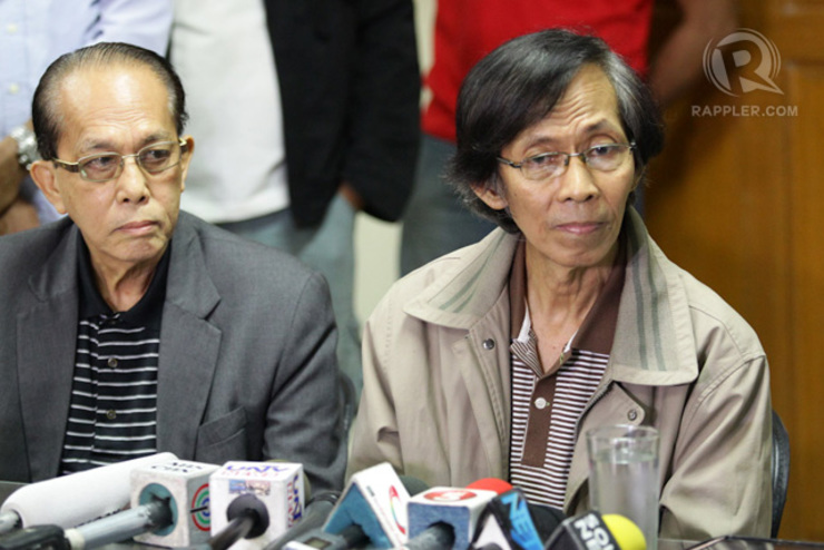 THE FALL. Fugitive for nearly 3 years, retired Maj. Gen. Jovito Palparan is presented to the media after his arrest Tuesday, August 12, 2014 in Manila. Photo by Mark Cristino/Rappler