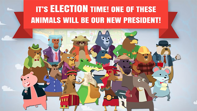 ELECTION TIME. What kind of president will you be? Screen shot from Political Animals.