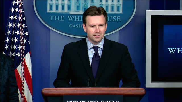 WHITE HOUSE BRIEFING. US Press Secretary Josh Earnest highlights decades-long relations between the US and the Philippines. Photo from whitehouse.gov