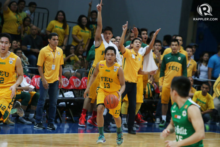 DEFENSE AND TEAMWORK. Mike Tolomia says FEU got this far thanks to defense and teamwork, and it will propel them past La Salle to the Finals. Photo by Josh Albelda