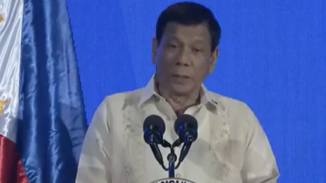 TALKING ECONOMY. President Rodrigo Duterte promises to support MSMEs in the Philippines. RTVM screenshot