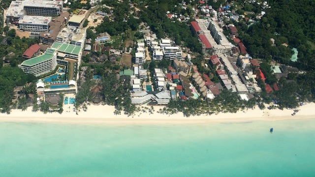 AERIAL VIEW. Here is how Boracay looks like from above. Rappler screenshot from video by Alecs Ongcal