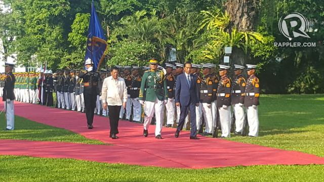 Indonesian President Joko Widodo's state visit in April 2017. Photo by Rappler
